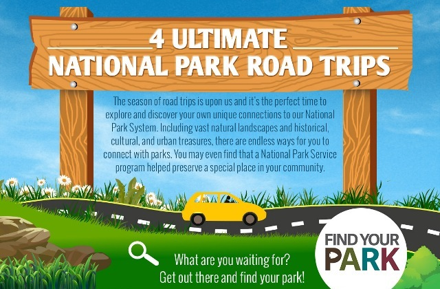 Rock Road Trip The Ultimate Collection: 4 Ultimate National Park Road Trips Infographic