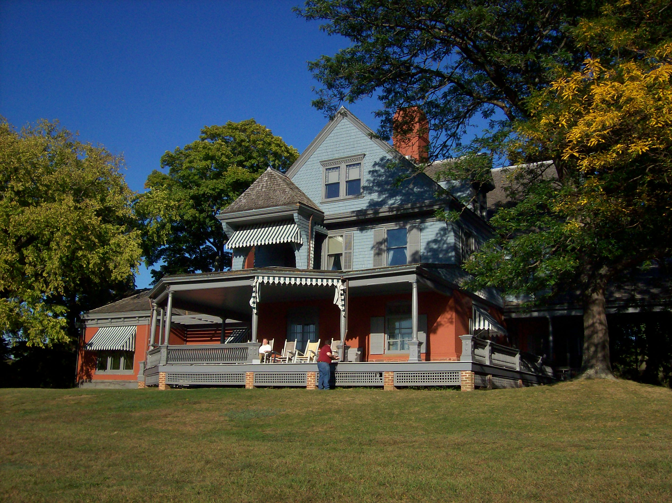 The home of Theodore Roosevelt, Sagamore Hill, is a National Historic Site