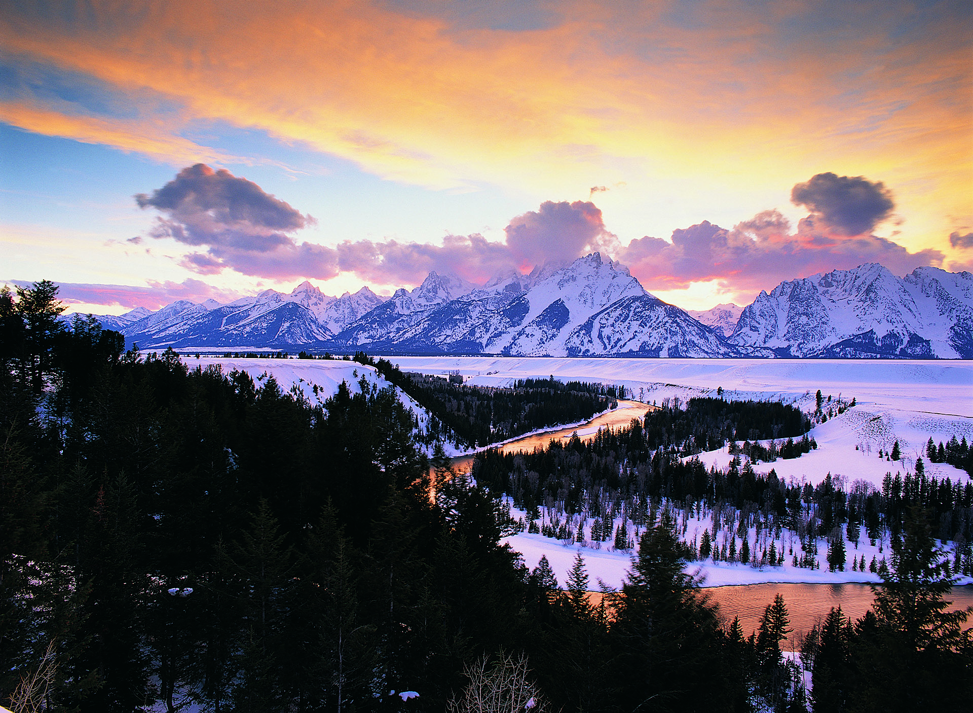 The Tetons rise above Jackson Hole
