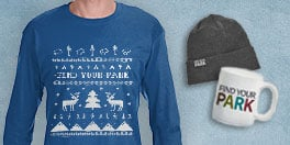 national park foundation holiday design long sleeve shirt