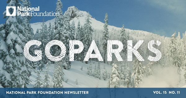 national park foundation, go parks, Lassen Volcanic National Park, snowy mountain top