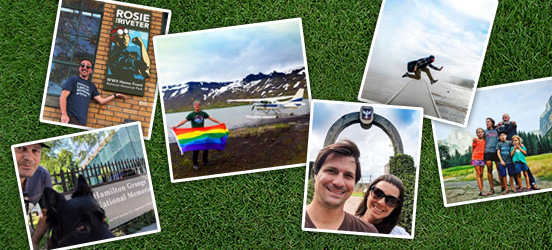 a collage of photos from contest entries from #picyourpark