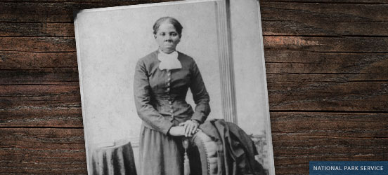 black and white historical photo of Harriet Tubman