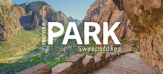 find your park, zion national park, sweepstakes