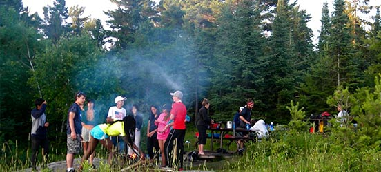 voyageurs national park, camping, people