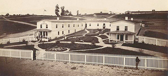 Historic image of a building at Camp Nelson