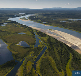 Areal view of sand dunes at Kobuk Valley National Park