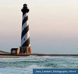 Cape Hatteras black and white lighthouse
