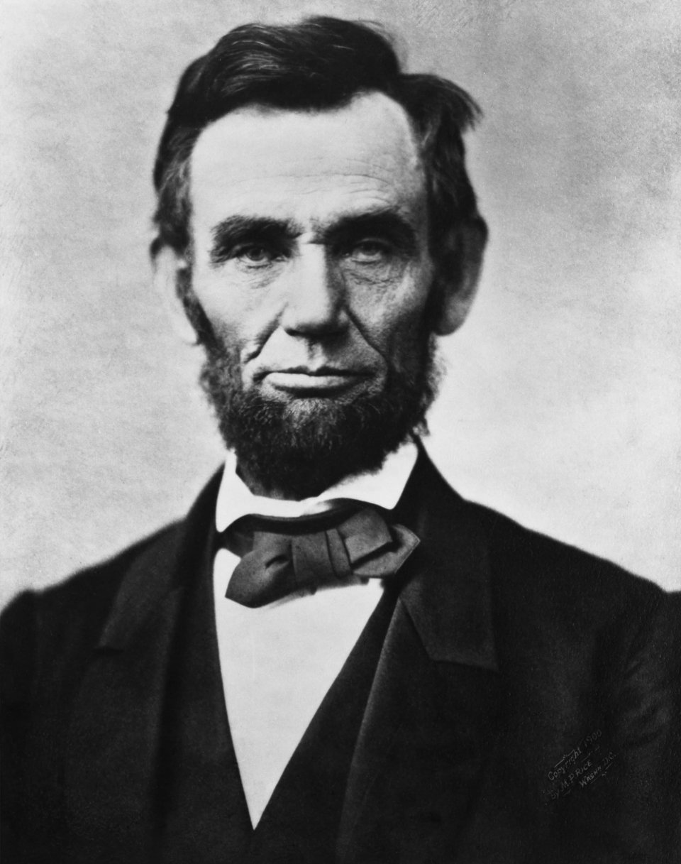 President Abraham Lincoln in close up