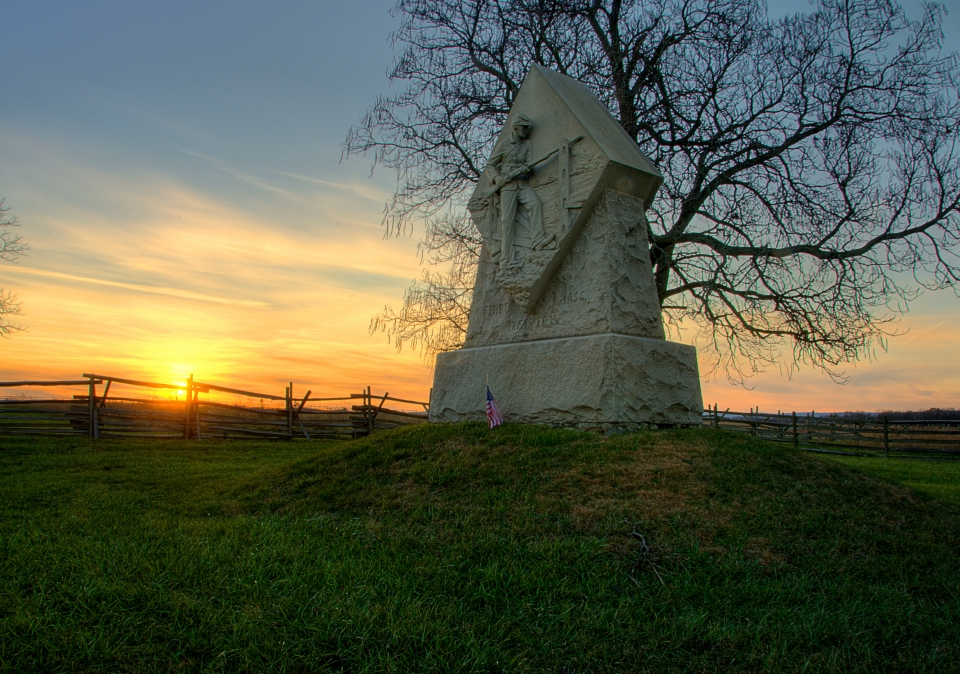 The first Massachusetts Memorial at Gettysburg