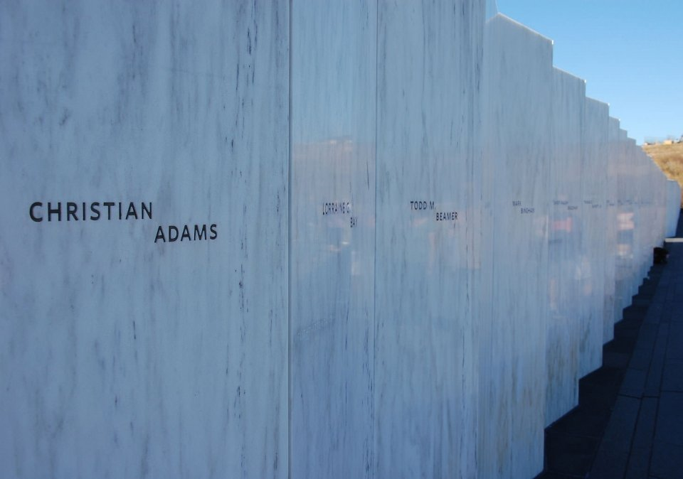 Wall of Names at the Flight 93 National Memorial