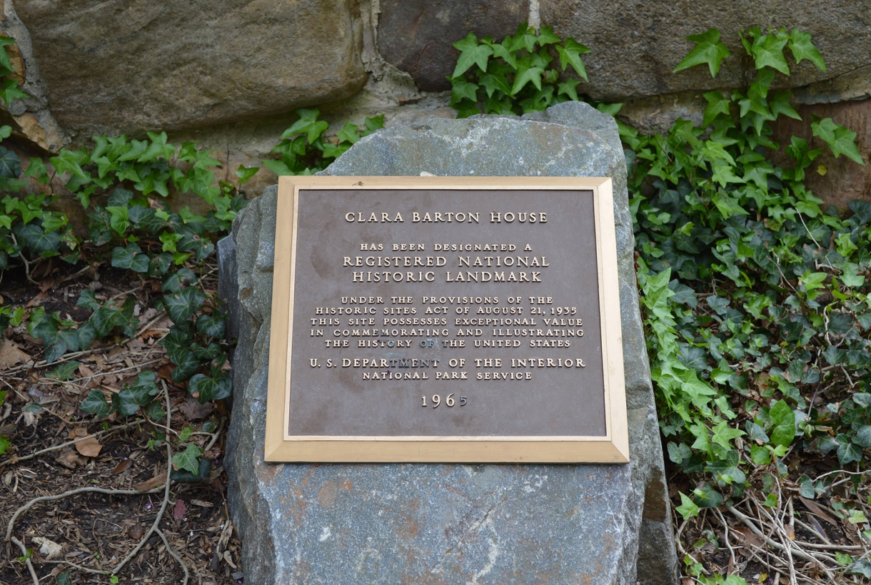 Clara Barton House plaque