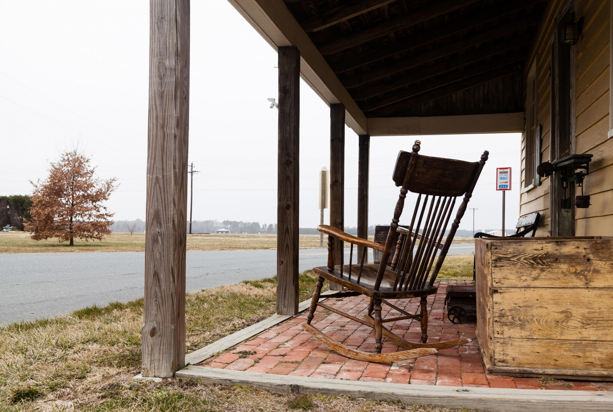 Image of old rocking chair at Harriet Tubman Underground Railroad site