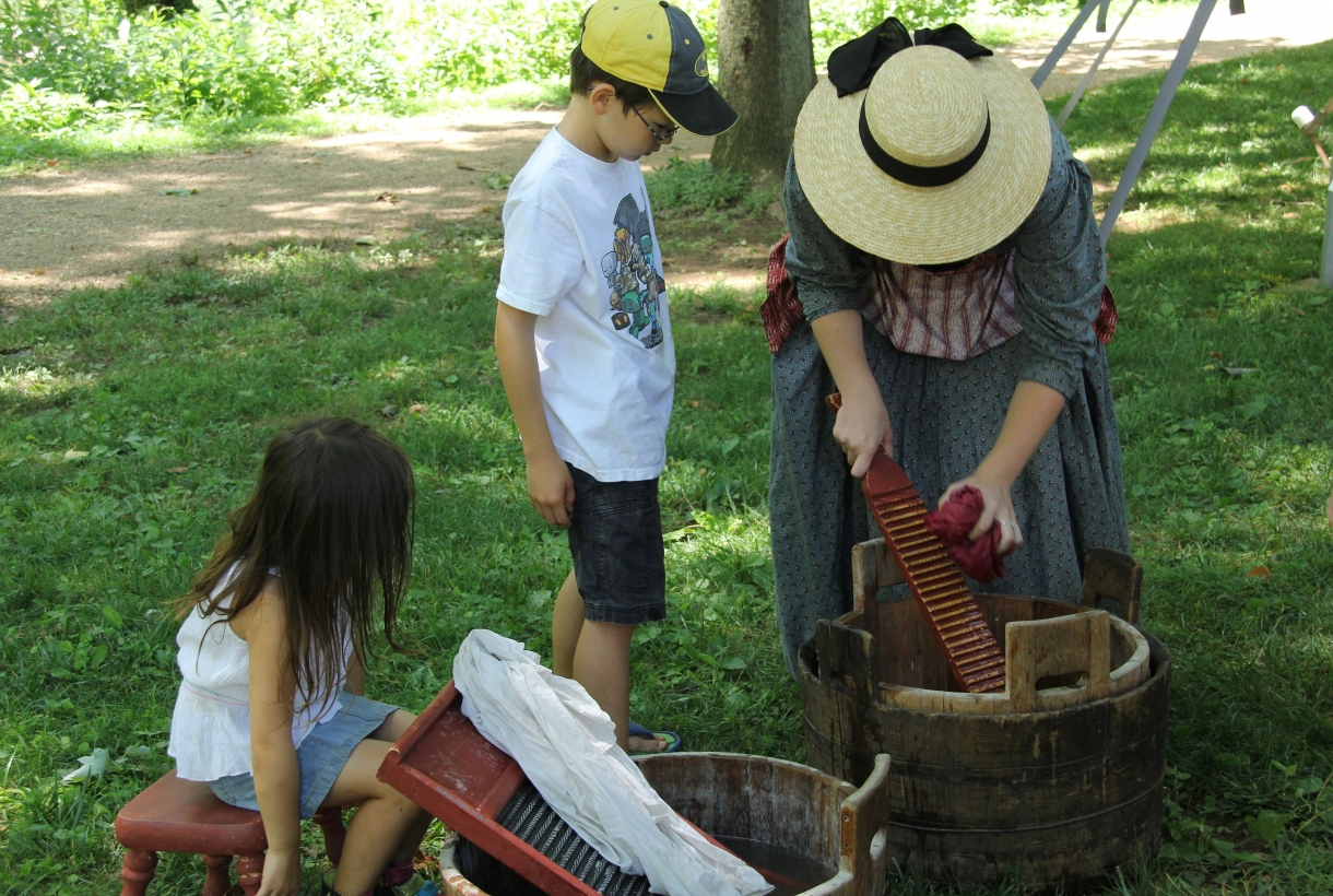 A Demonstration of 1860s chores at Harpers Ferry