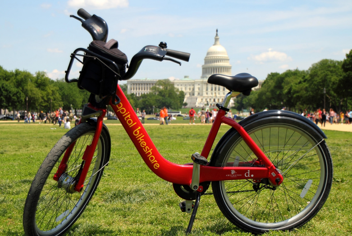 Rental bike at the National Mall