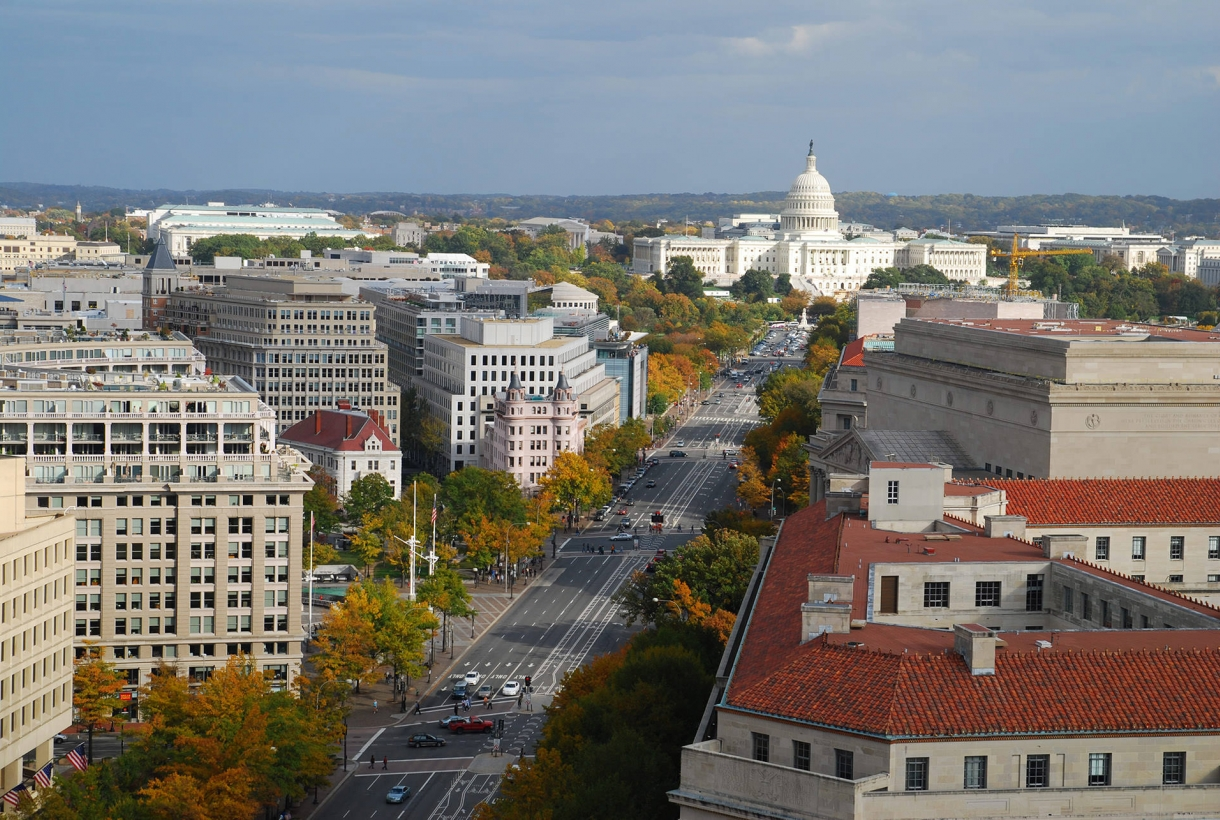 Image of Pennsylvania Avenue in Washington, D.C. with view of Capitol