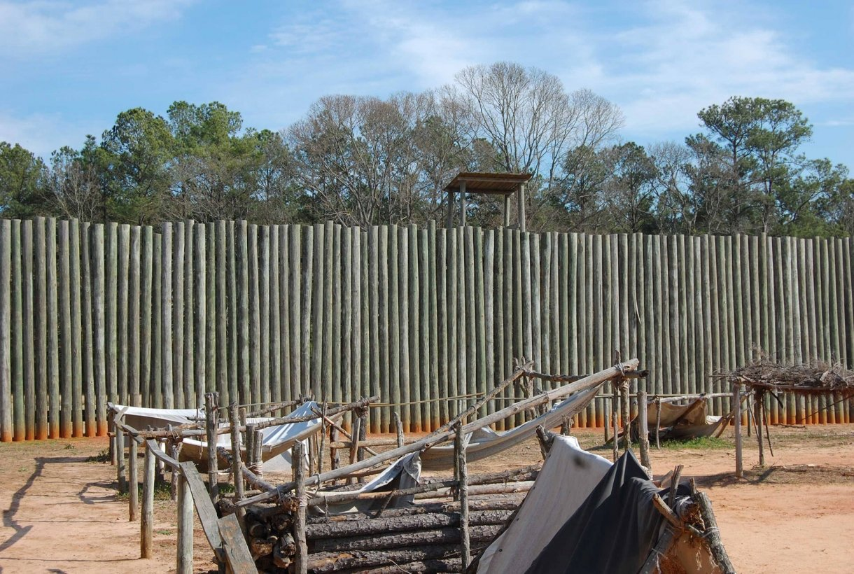 Stockade wall at Andersonville