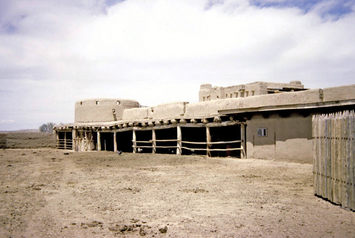 Long view of the adobe fort