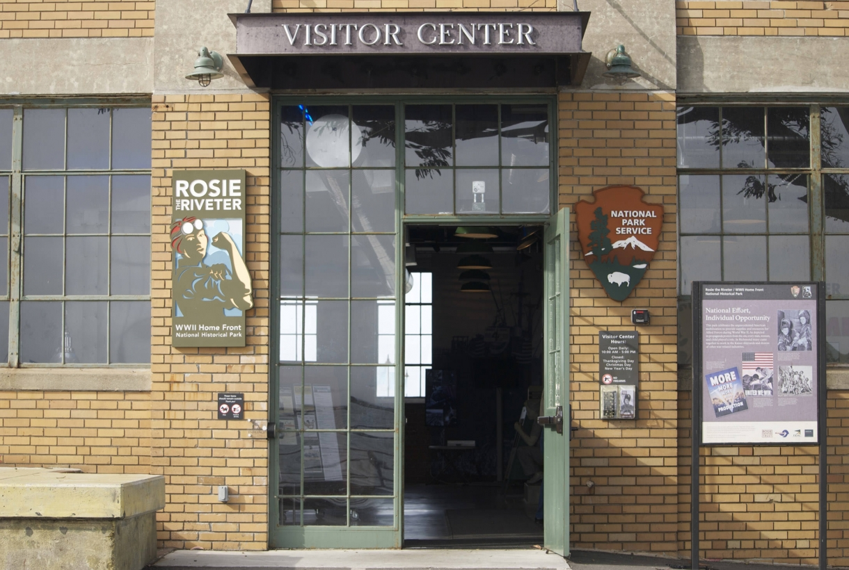 The entrance to the Rosie the Riveter WWI National Historic Site