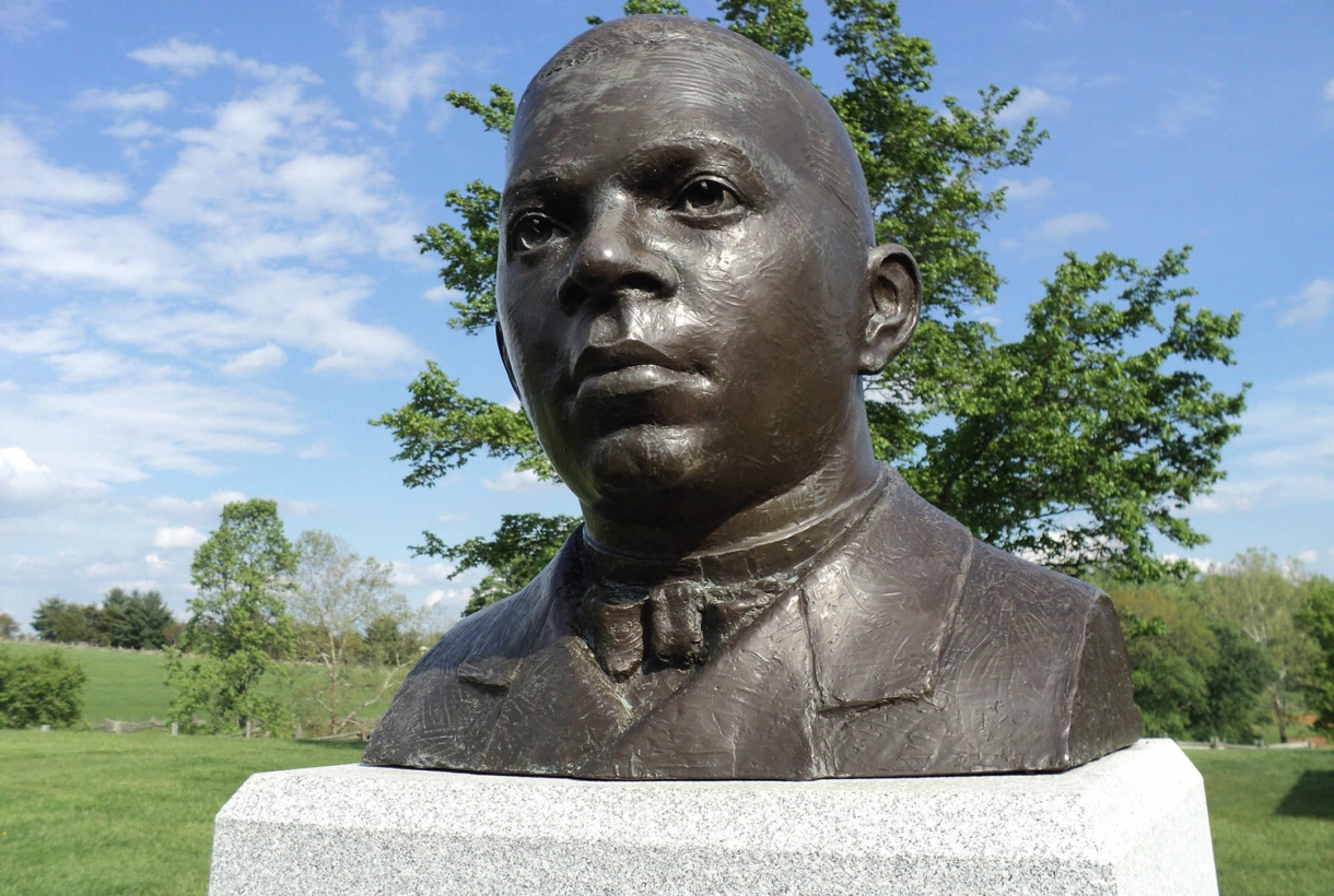 Booker T. Washington bust at Booker T. Washington National Monument