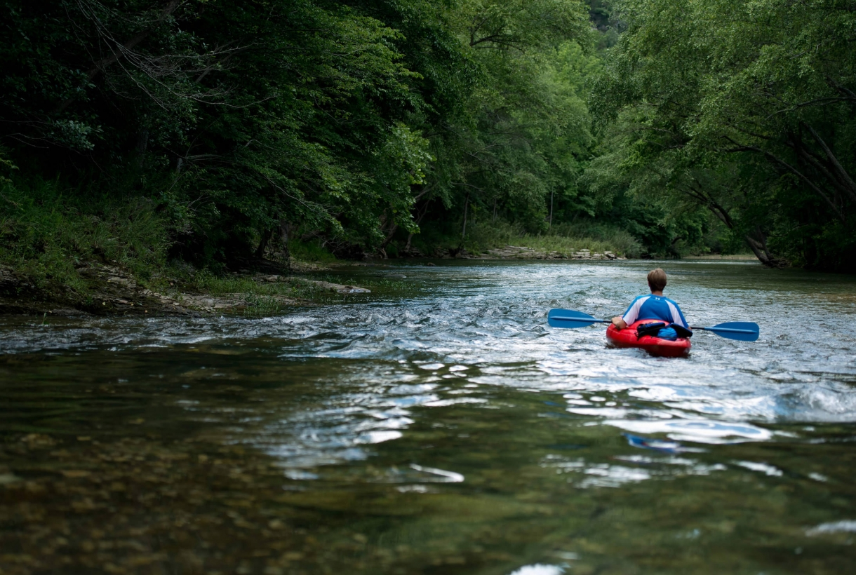 Kayaker on Buffalo National River