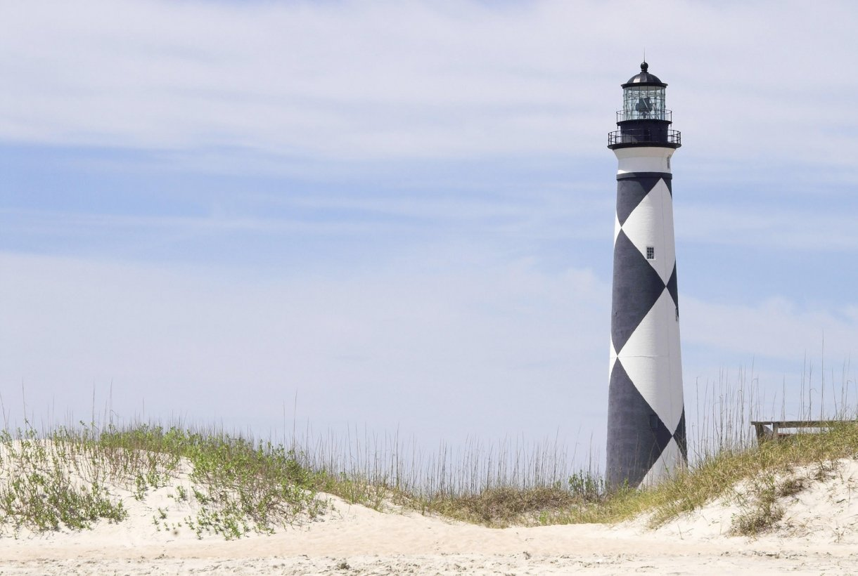 Lighthouse at Cape Lookout National Park
