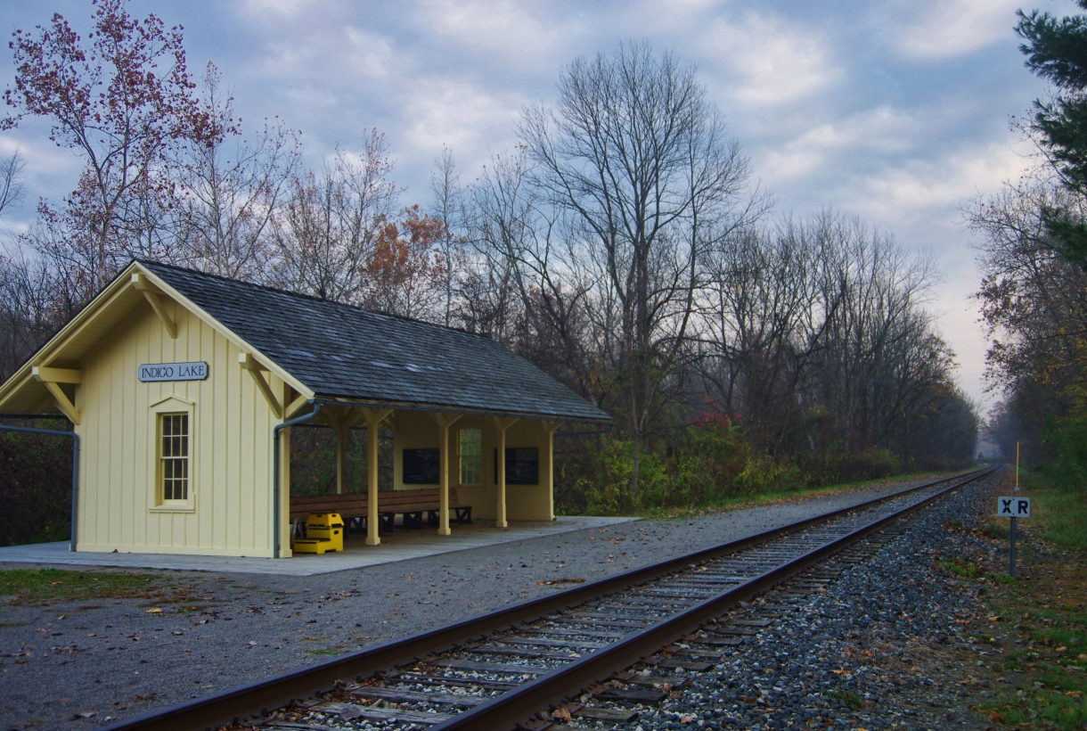 Indigo Lake station on the Cuyahoga Valley Scenic Railroad