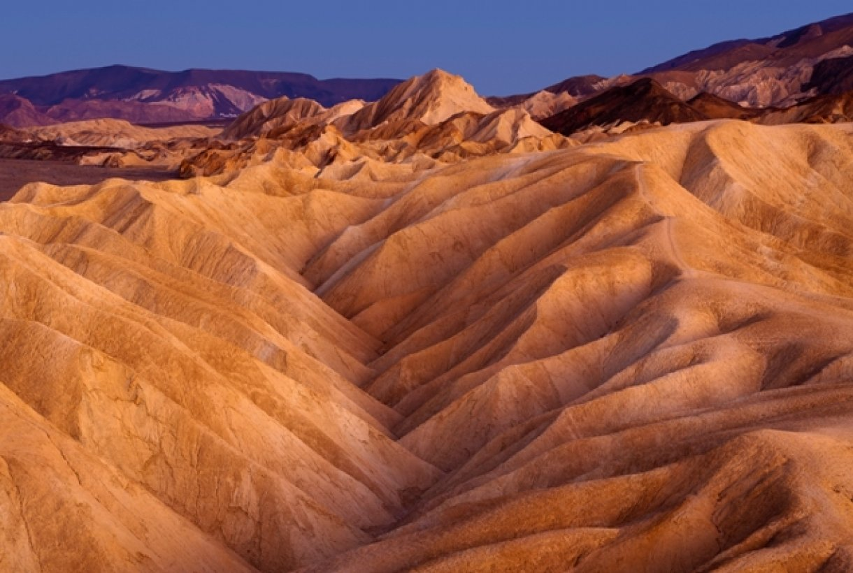 The desert landscape of Death Valley National Park