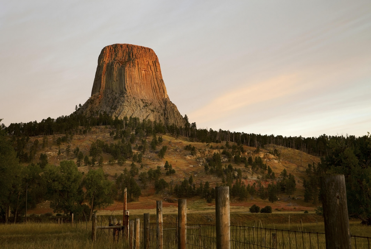 Devil Tower and valley
