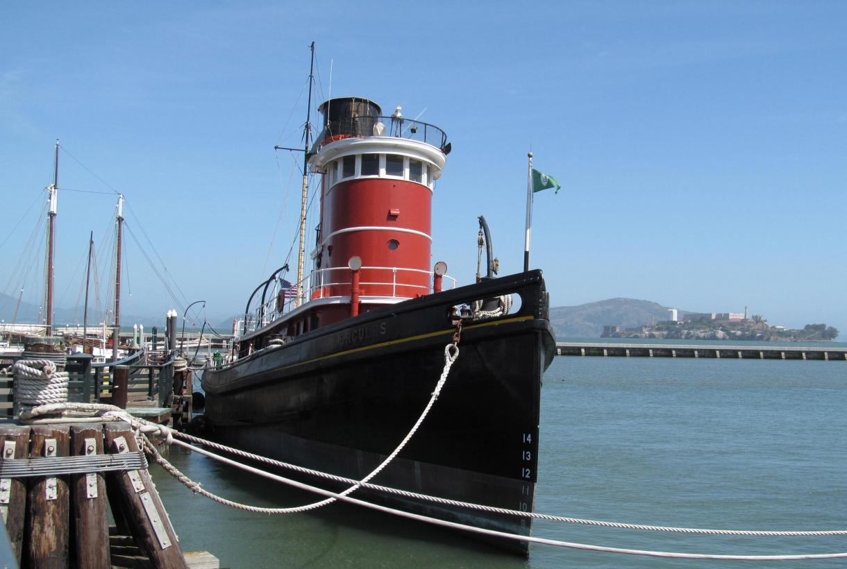 Ship docked at the San Francisco Maritime National Historical Park