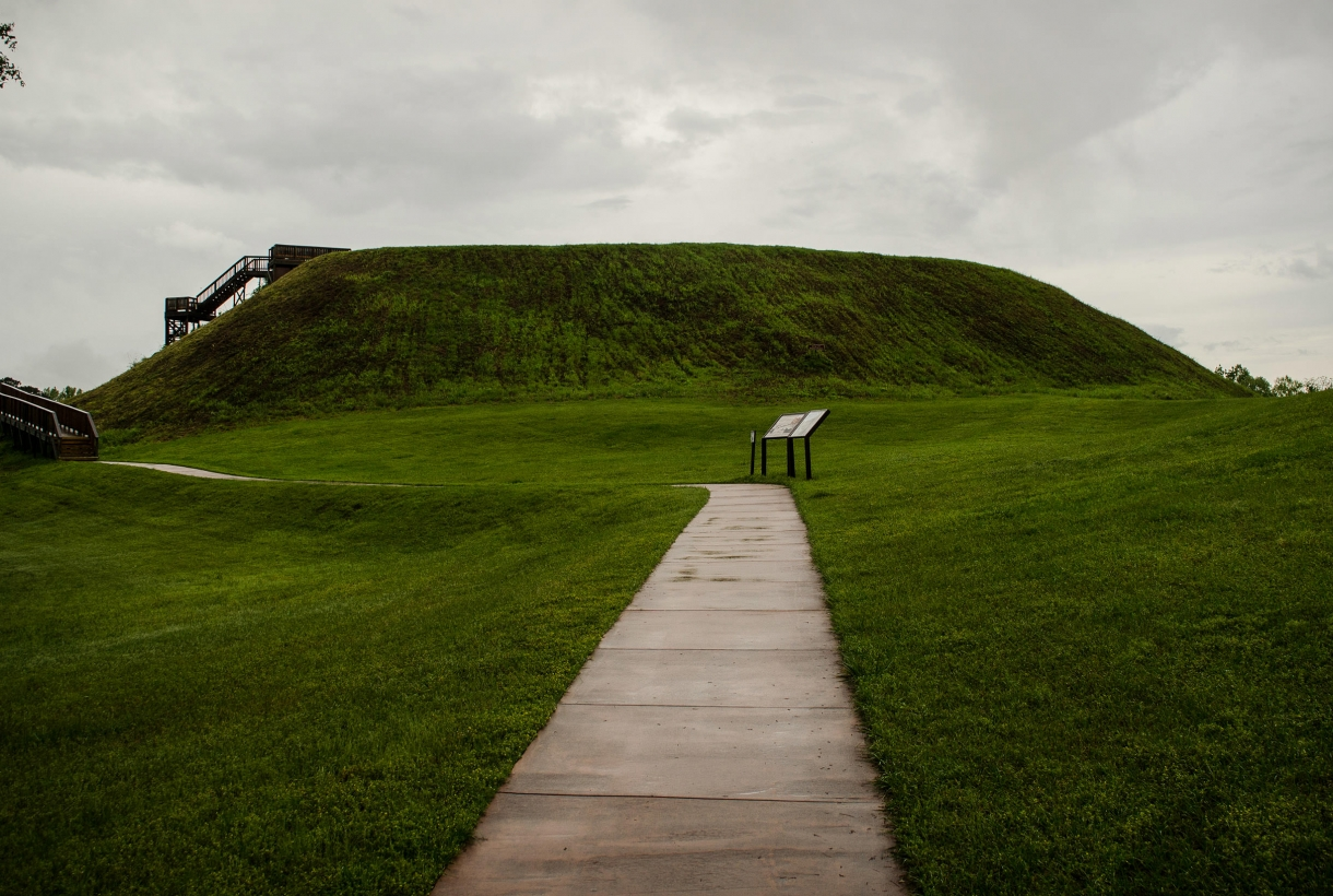 Temple mound at Ocmulgee National Monument