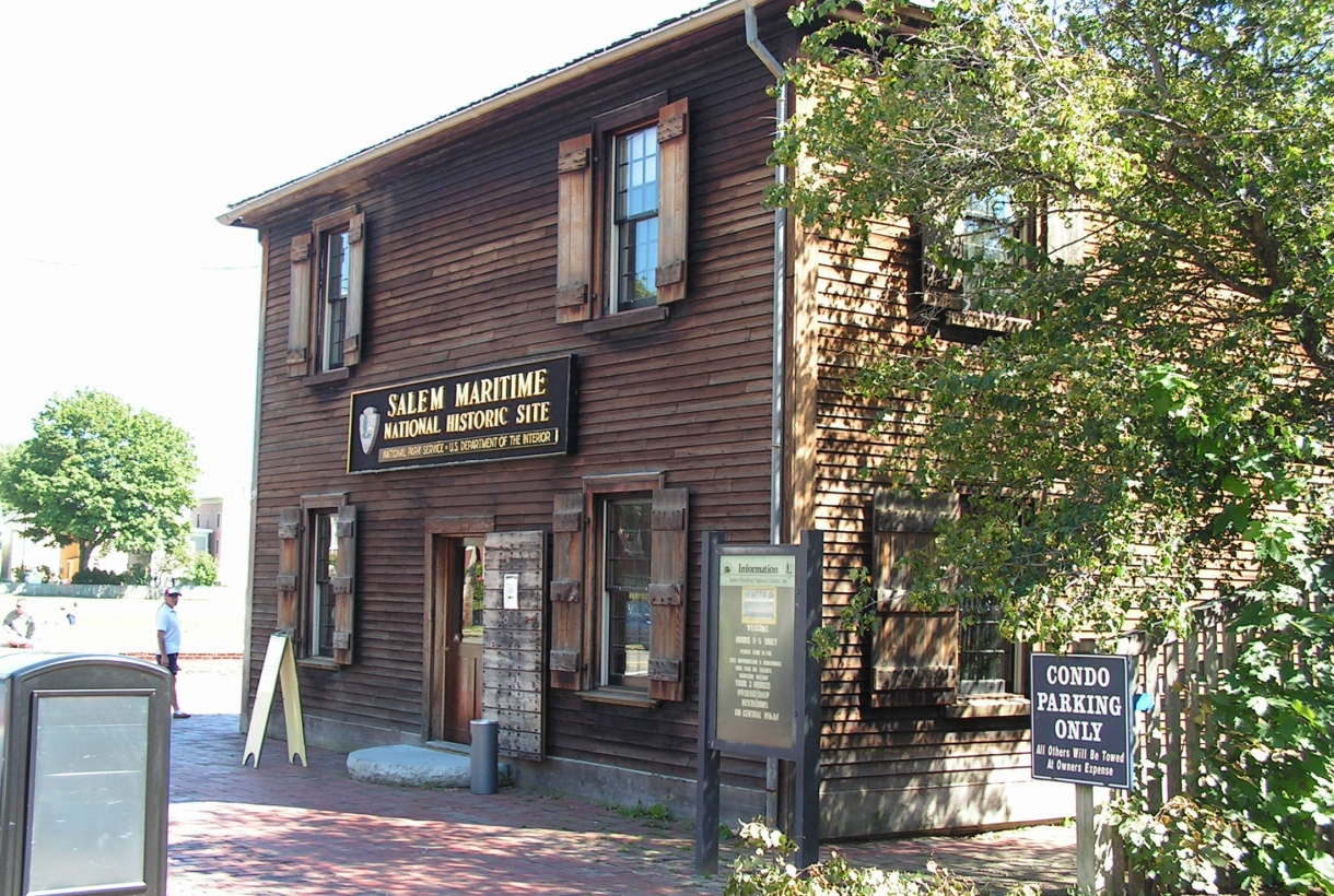 The entrance to the Salem Maritime National Historic Site