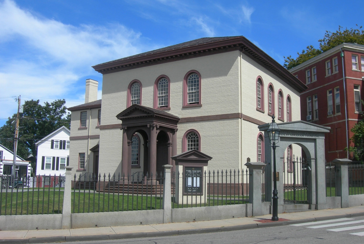 Exterior of the historic synagogue