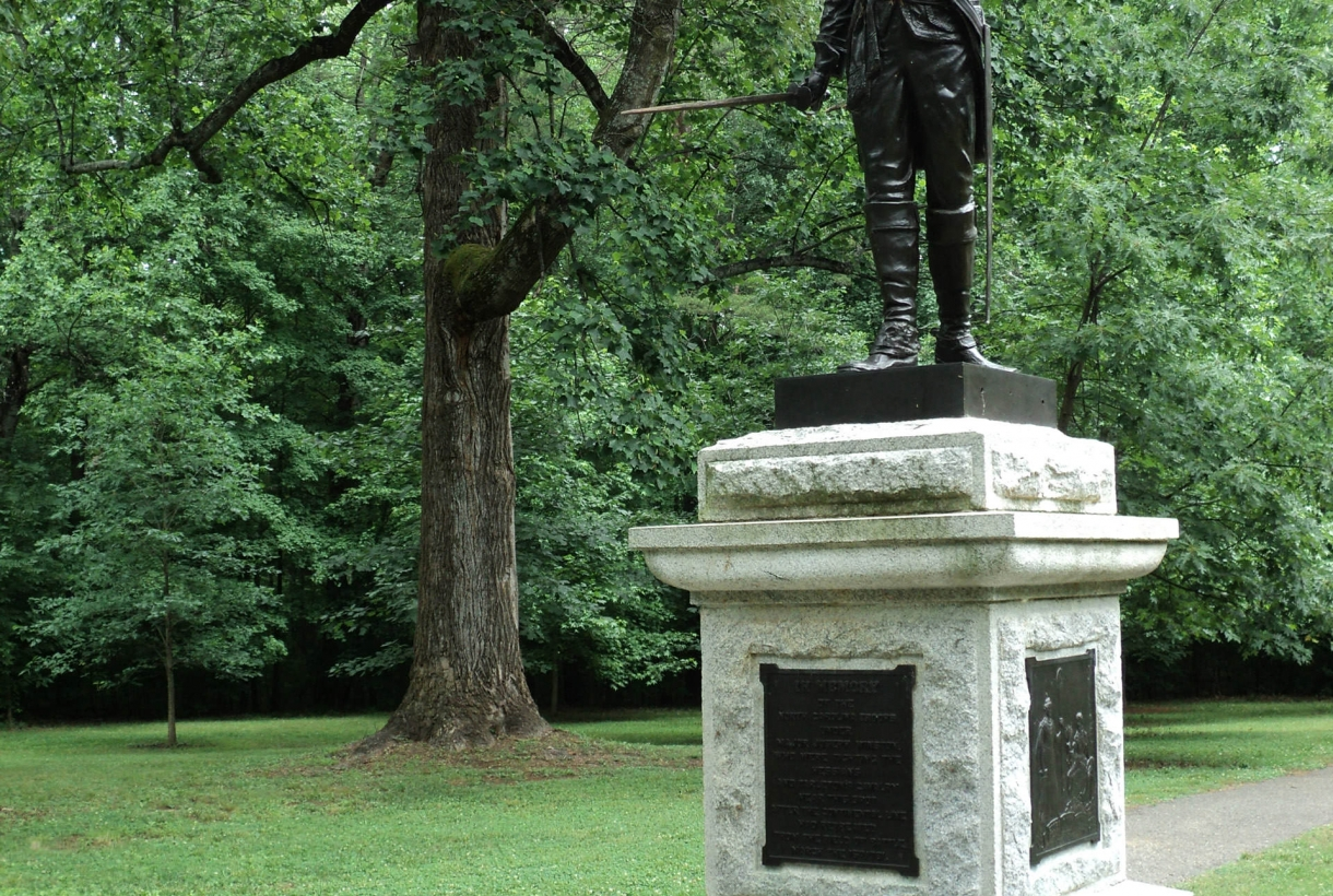 Guilford Courthouse statue