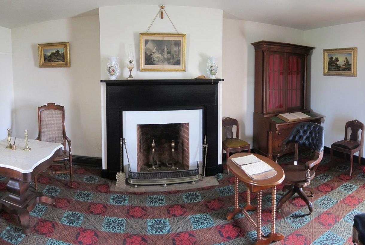 The parlor at Wilmer McLean's house