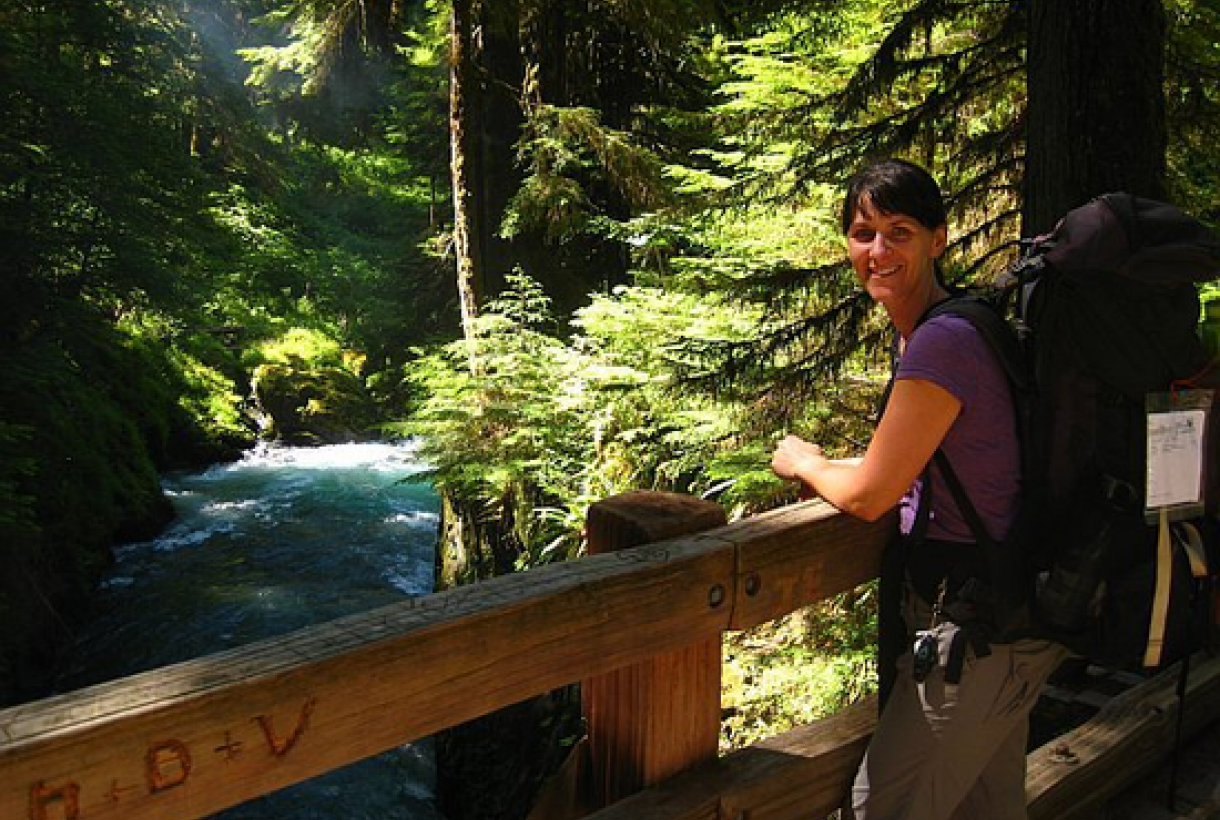 Melissa Antone in Olympic National Park