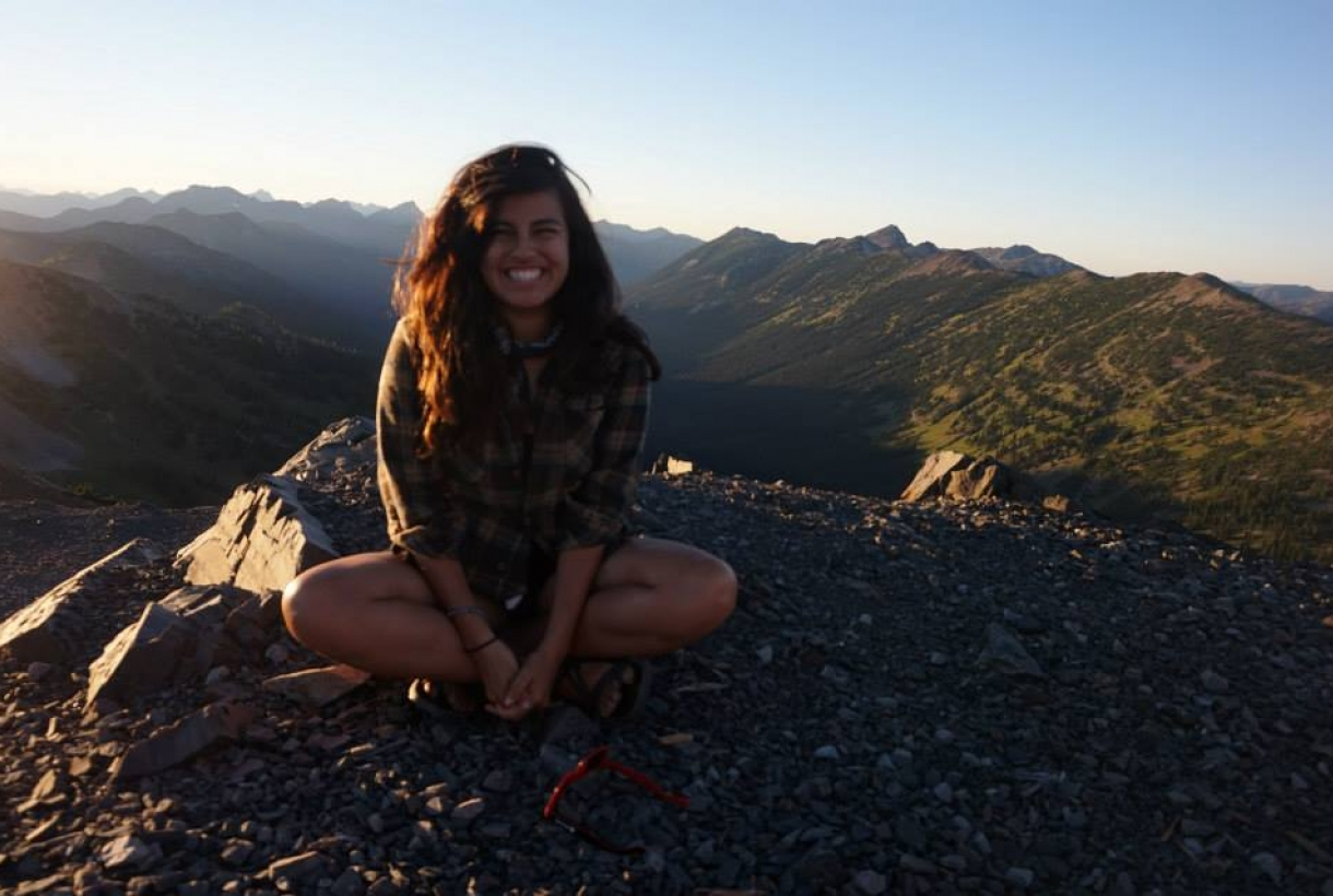 Michelle Pinon smiling at at North Cascades National Park