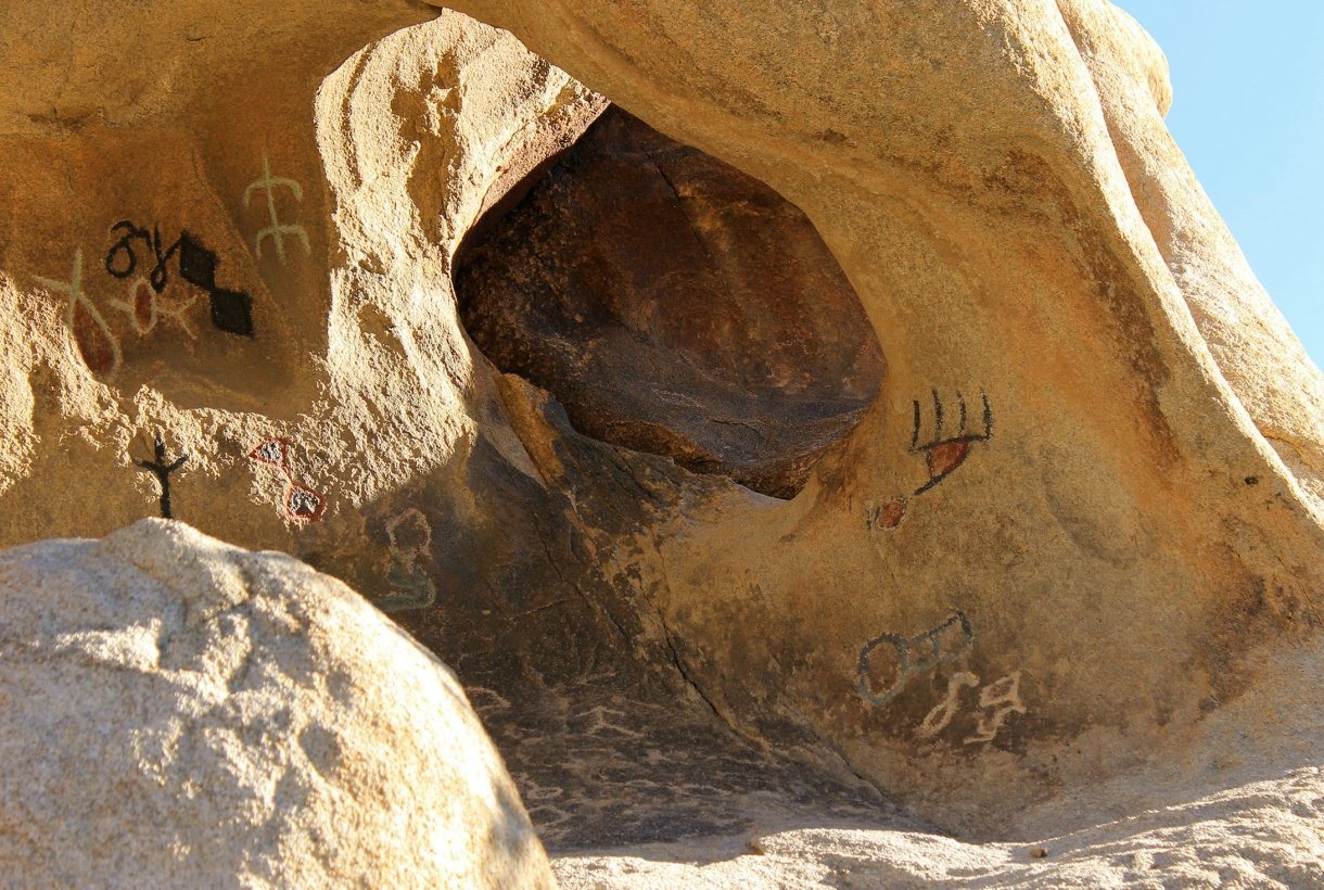 Rock carvings and paintings