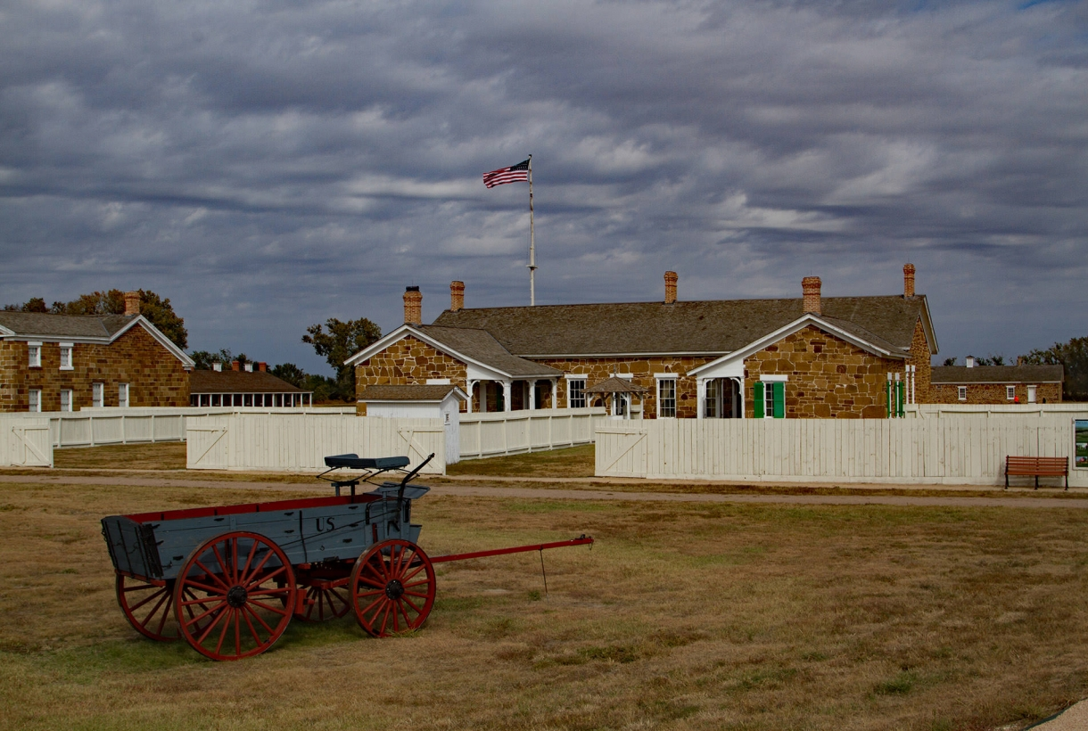 House and horse cart at Fort Larned National Historic Site