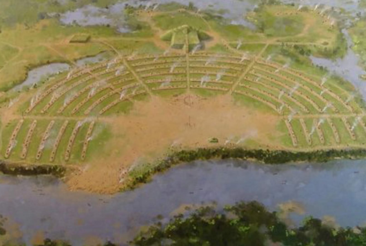 Site map of poverty point