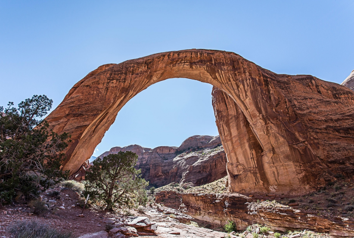naturally carved arch in red rock