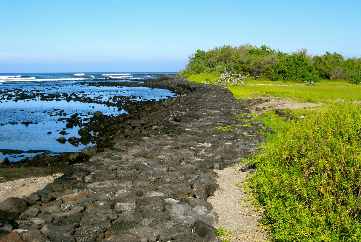 Shoreline in Ala Kahakai Historic Trail National Park