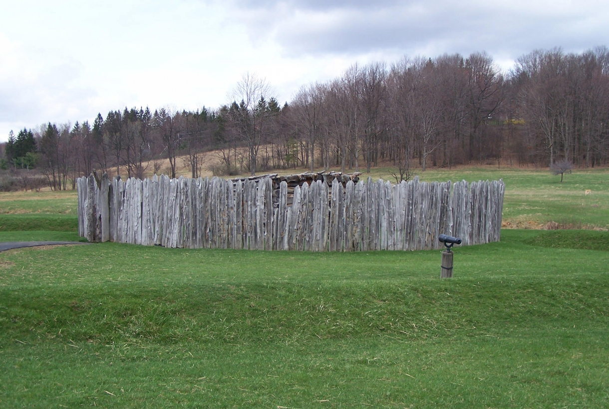 Outlook on hill at Fort Necessity National Battlefield