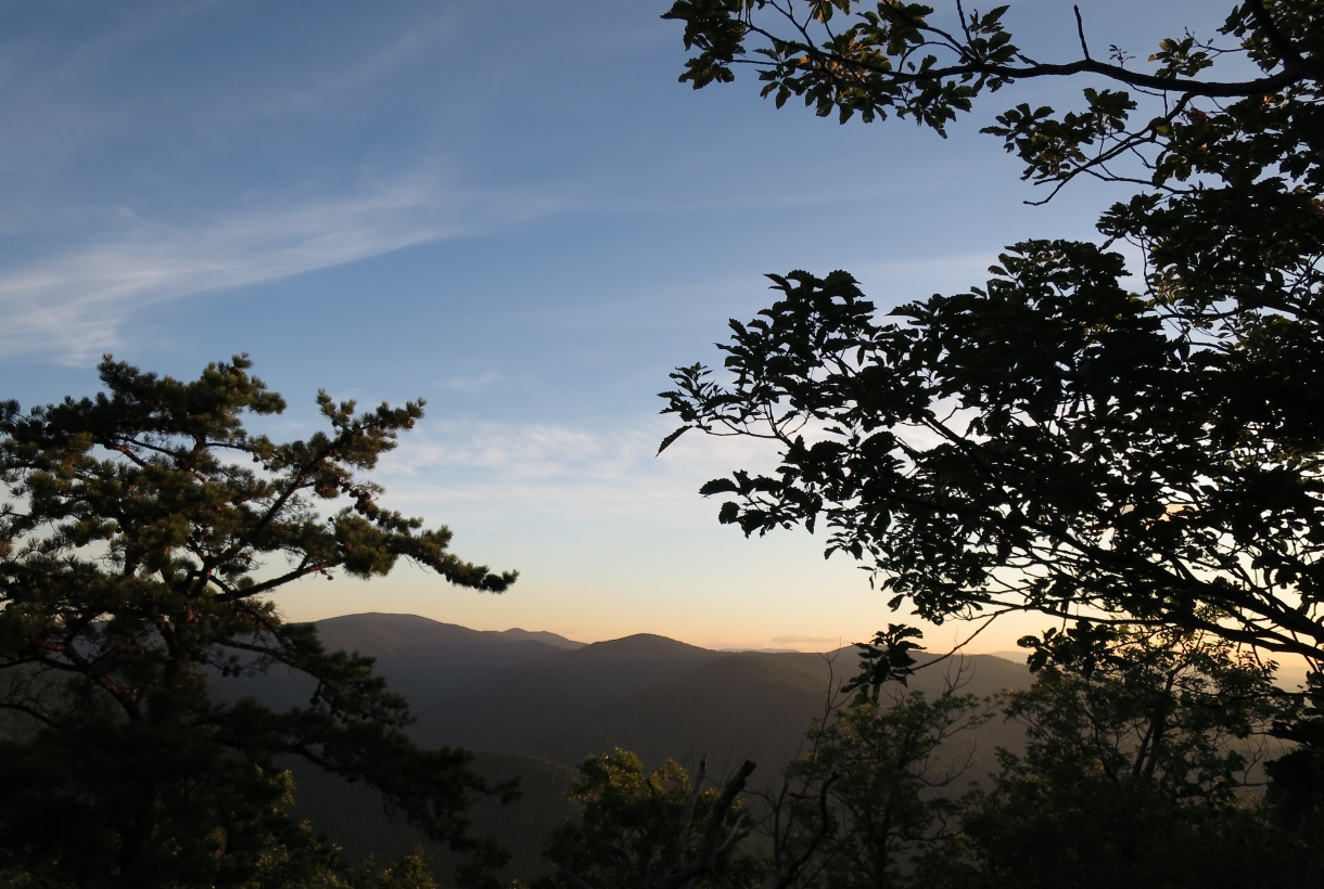 Old Rag hike at Sunrise at Shenandoah National Park