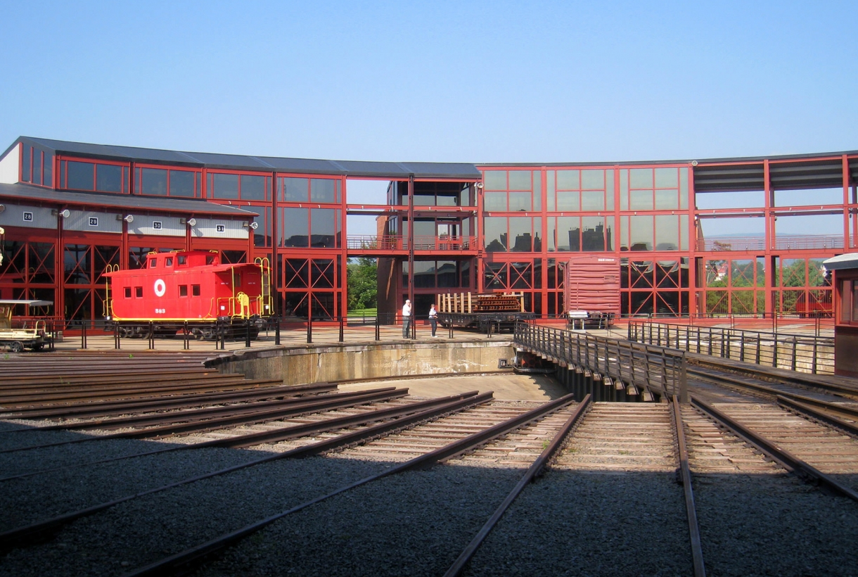 Railroad tracks at Steamtown National Historic Site