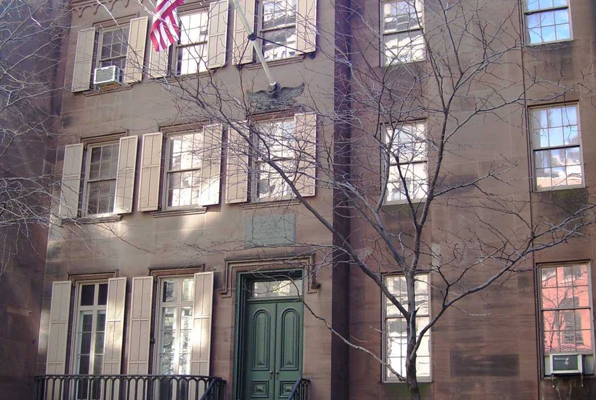 The row house where Theodore Roosevelt was born