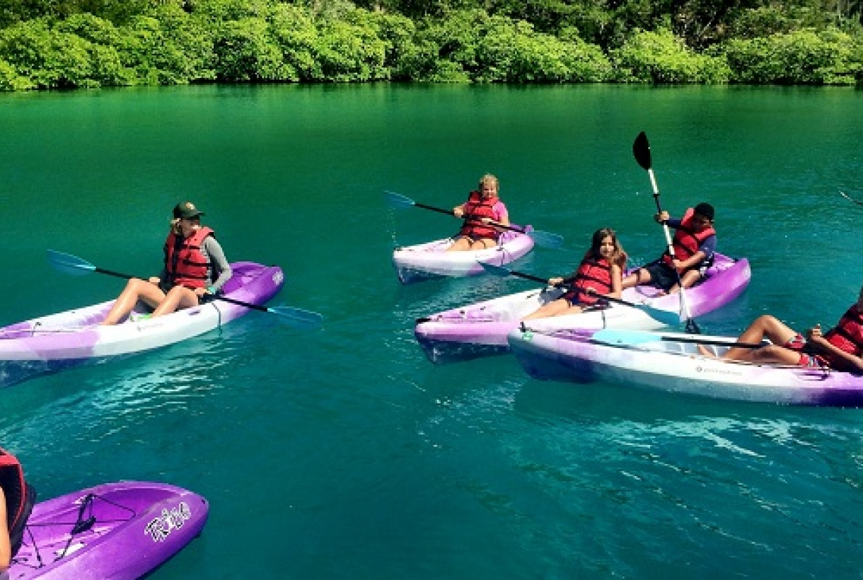 Image of Virgin Islands Ticket to Ride Kayakers