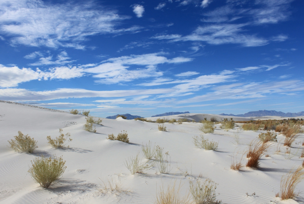 White sands against blue sky
