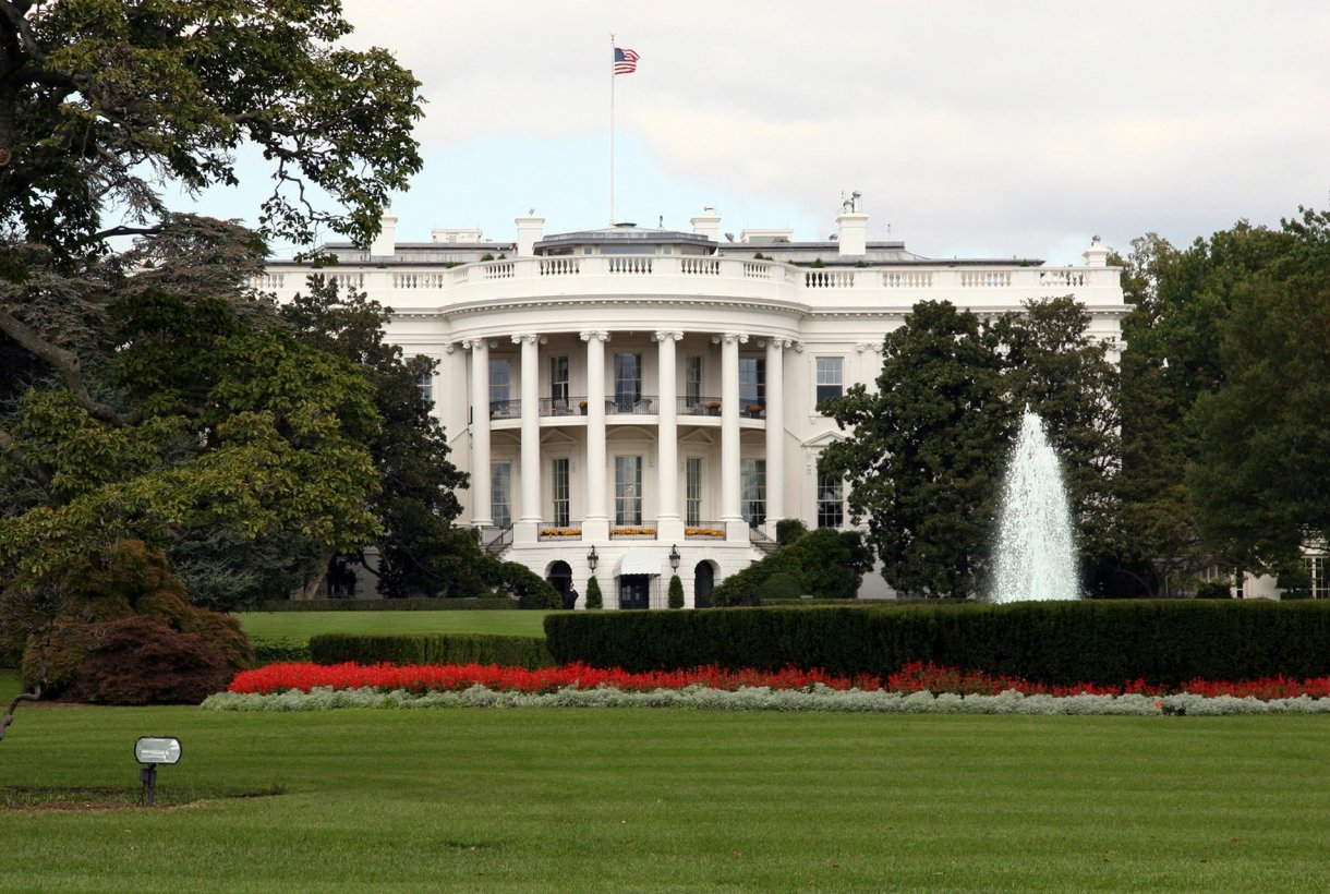 Front-view image of the United States White House