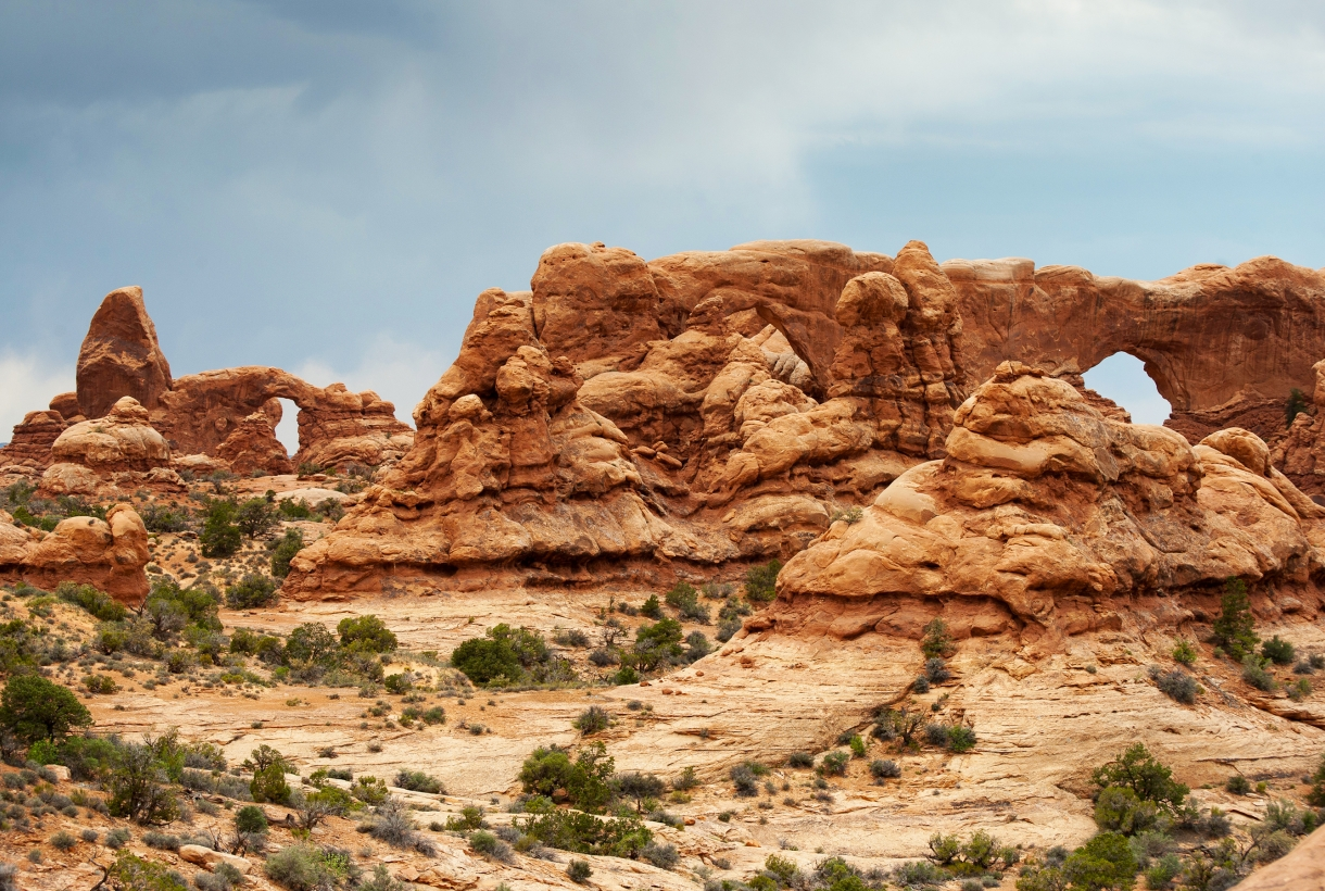 Turret Arch and the Windows at Arches National Park